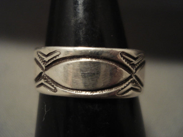 1910's Vintage Navajo Ingot/coin Native American Jewelry Silver Ring