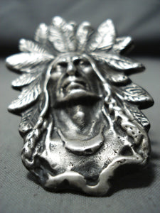 Outstanding Heavy San Felipe Sterling Silver Chief Ring