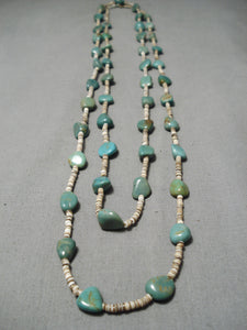 Native American Incredible Vintage Santo Domingo Royston Turquoise Sterling Silver Necklace