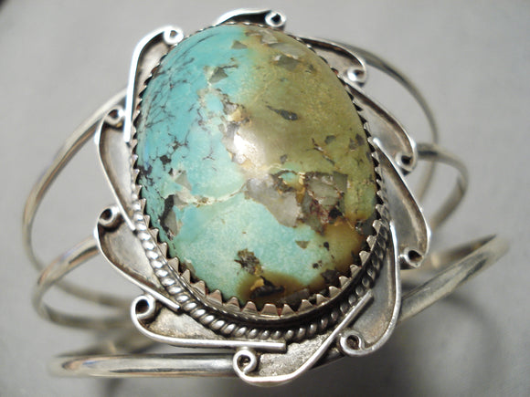 Exquisite Vintage Native American Navajo Royston Turquoise Sterling Silver Bracelet