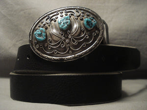 233 Gram Vintage Navajo Turquoise Native American Jewelry Silver Concho Belt Old-Nativo Arts