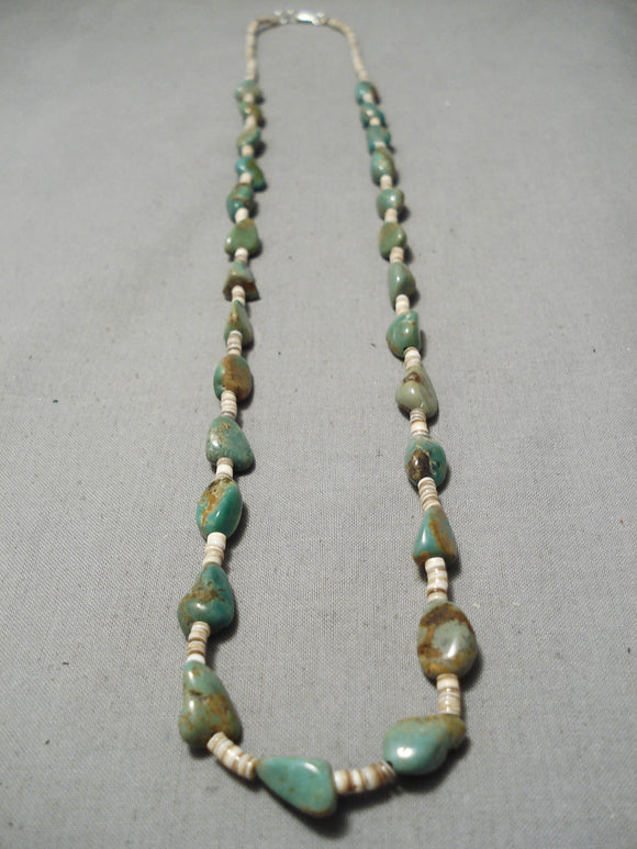 Native American Wonderful Vintage Santo Domingo Royston Turquoise Sterling Silver Necklace