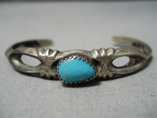 Incredible Vintage Navajo Turquoise Sterling Silver Native American Bracelet