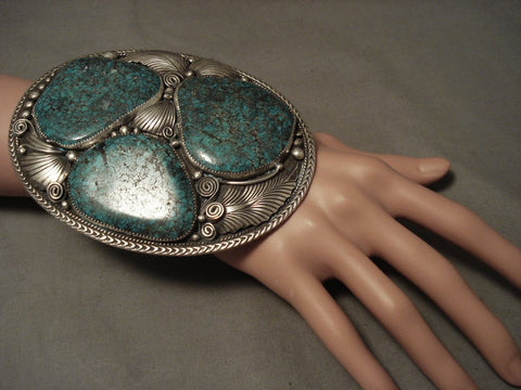 249 Grams Huge Heavy One Of Largest Navajo Native American Jewelry jewelry Bracelet Ever-Nativo Arts