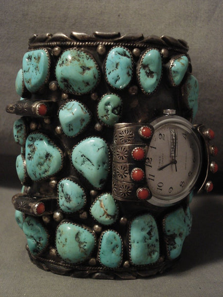 274 Grams Omg Heavy Huge One Of Largest Vintage Navajo Turquoise Native American Jewelry Silver Bracelet