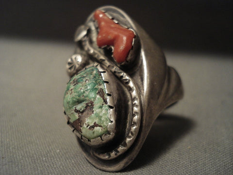 28 Grams Heavy 'Snake' Zuni/ Navajo Vintage Heavy Native American Jewelry Silver Ring-Nativo Arts