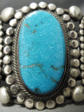 One Of The Best Vintage Native American Navajo Rick Martinez Turquoise Sterling Silver Bracelet