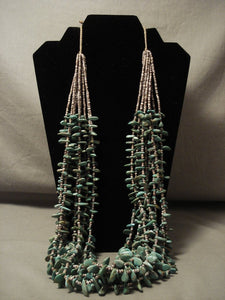 309 Gram Natural Green Turquoise Navajo Native American Jewelry jewelry Necklace-Nativo Arts