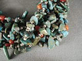 310 Grams Natural Green Turquoise Coral Necklace-Nativo Arts