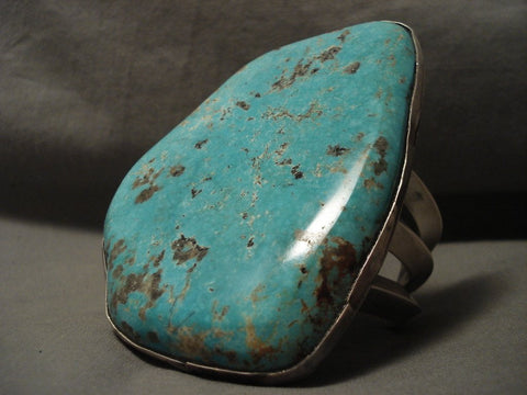 312 Grams Mammoth Vintage Navajo Number 8 Turquoise Native American Jewelry Silver Bracelet-Nativo Arts