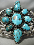 Important Vintage Native American Navajo Ramon Platero Turquoise Sterling Silver Bracelet Old