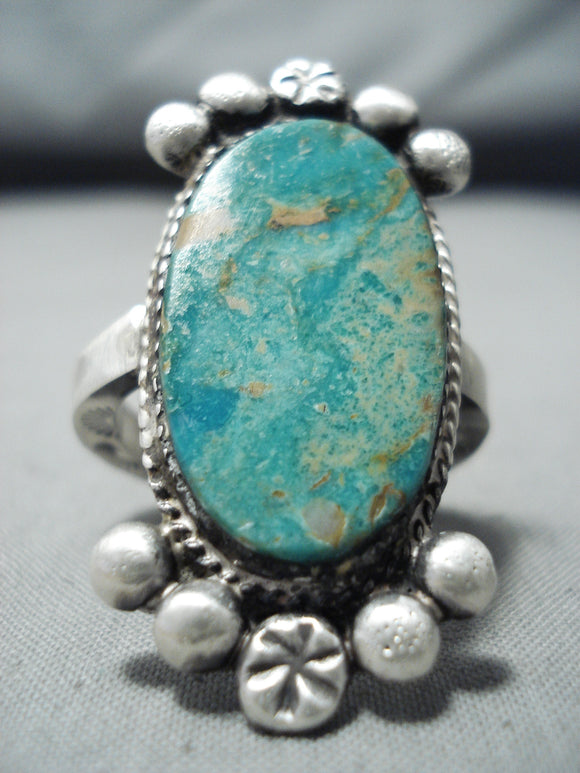 Spectacular Vintage Native American Navajo Royston Turquoise Sterling Silver Ring