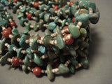 344 Grams Important Modernistic Navajo Native American Jewelry jewelry 'Natural Green Turquoise' Necklace-Nativo Arts