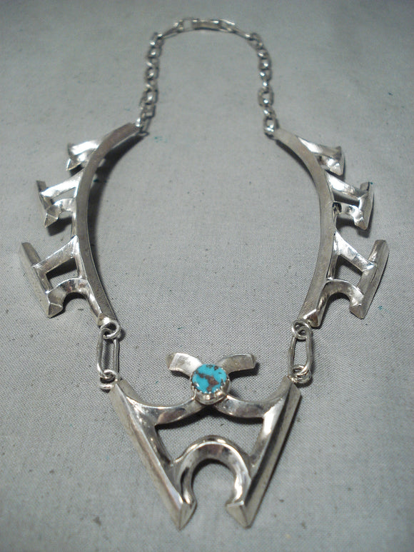Electrifying Betsoi Navajo Sterling Silver Necklace Native American