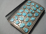 Amazing Vintage Zuni Native American Sterling Silver Turquoise Ketoh Bracelet