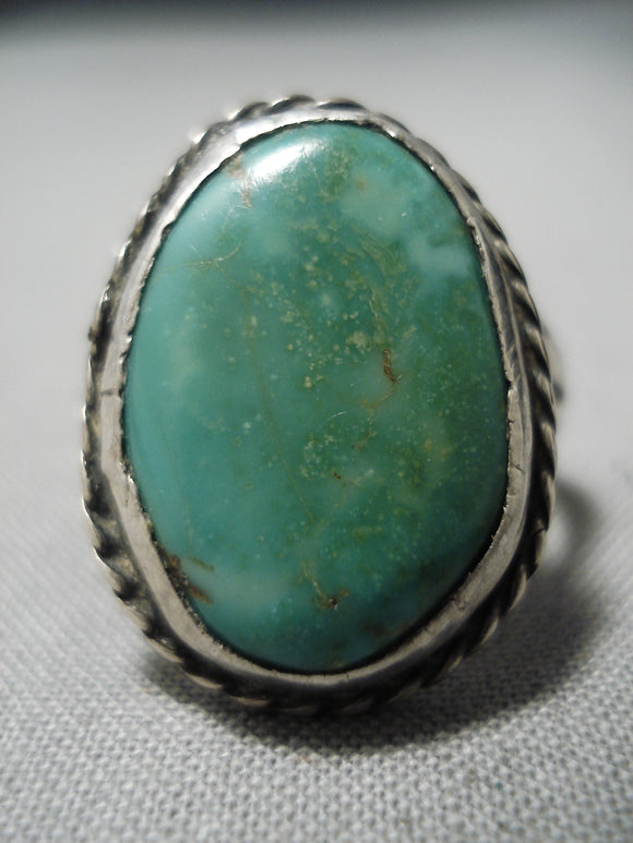 Wonderful Vintage Native American Navajo Royston Turquoise Sterling Silver Ring Old