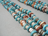 Superior Vintage Navajo Turquoise Heishi Jacla Native American Necklace
