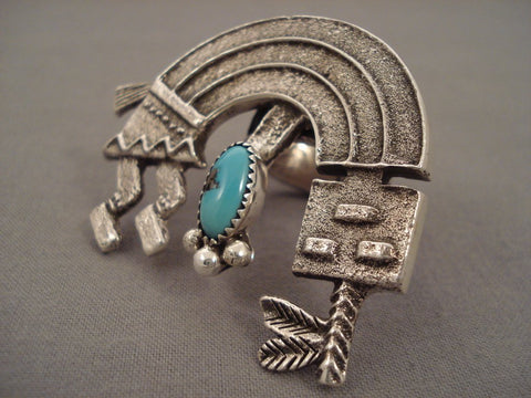 40 Grams Monster Navajo 'Symbolic Yei' Turquoise Native American Jewelry Silver Ring-Nativo Arts