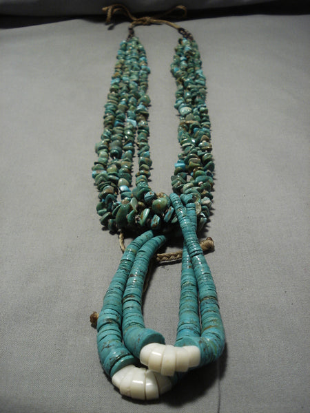 Superior Vintage Navajo Royston Turquoise Native American Necklace Old