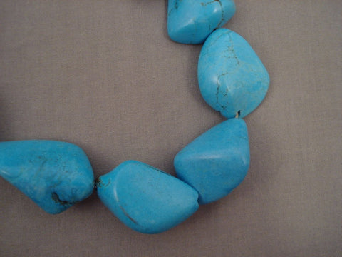 410 Grams Monster Turquoise Nugget Vintage Navajo Native American Jewelry jewelry Necklace-Nativo Arts