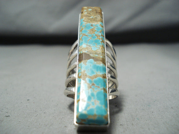 Stunning San Felipe #8 Turquoise Mine Sterling Silver Ring Signed