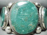 One Of Best Ever Native American Navajo Rick Martinez Green Turquoise Sterling Silver Bracelet