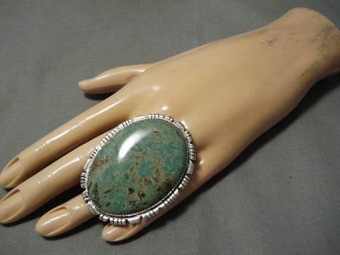 Incredible Vintage Navajo Royston Turquoise Sterling Silver Native American Ring