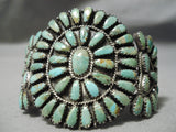 Authentic Vintage Native American Navajo Larry Moses Begay Turquoise Sterling Silver Bracelet