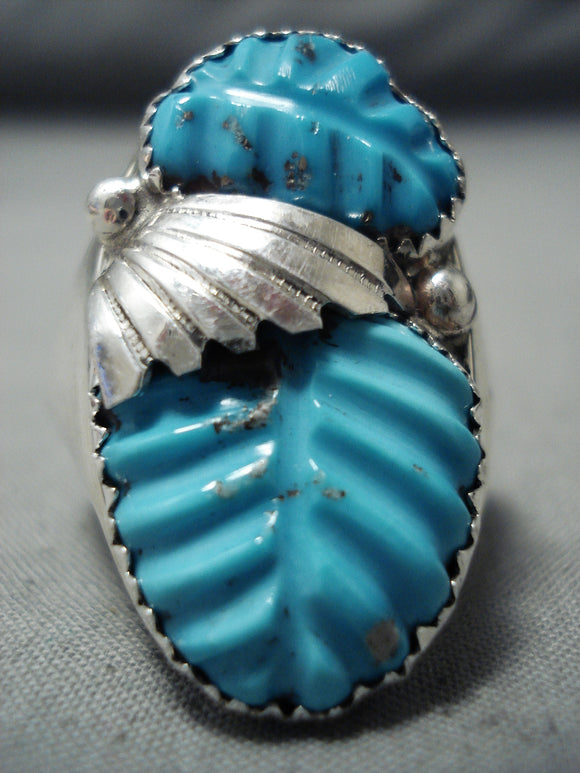 Marvelous Zuni Turquoise Sterling Silver Ring Native American