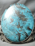 Big Crazy 267 Gram Native American Turquoise Sterling Silver Bracelet Cuff