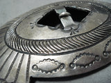 Tremendous Vintage Navajo Sterling Silver Buckle Native American Old