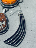 One Of The Most Artisitc Native American Navajo Turquoise Sterling Silver Petroglyph Necklace