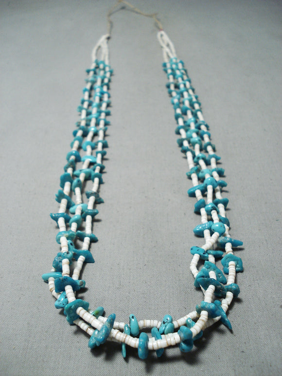 Incredible Vintage Navajo Turquoise Heishi Necklace Native American Jewelry