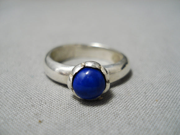 Native American Authentic Vintage Ben Nighthorse Campbell Lapis Sterling Silver Ring