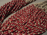 641 GRAMS 50-STRAND NAVAJO CORAL HEISHI NECKLACE- AMAZING-Nativo Arts