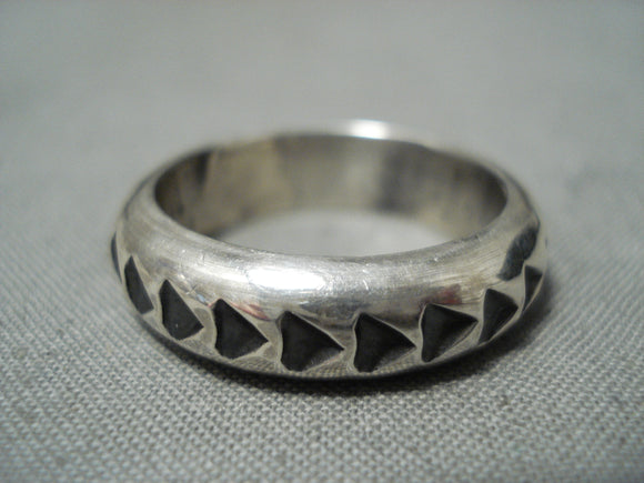 Important Sunny Reeves Vintage Navajo Sterling Silver Ring Native American