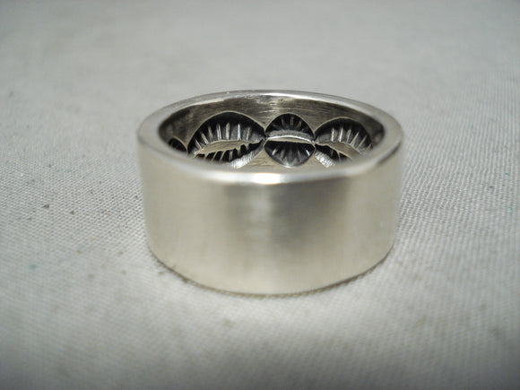 Internal Stamp Work Navajo Sterling Silver Native American Ring