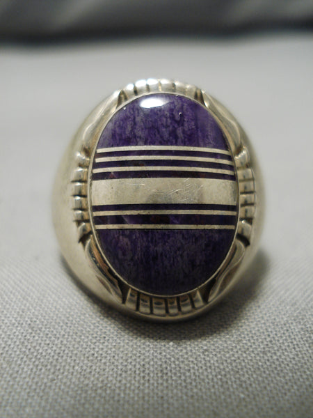 Stunning Vintage Native American Navajo Ron Hurley Sterling Silver Men's Ring Old