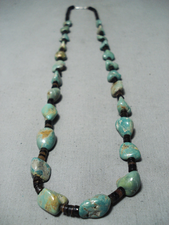 Native American Tremendous Santo Domingo Royston Turquoise Sterling Silver Necklace