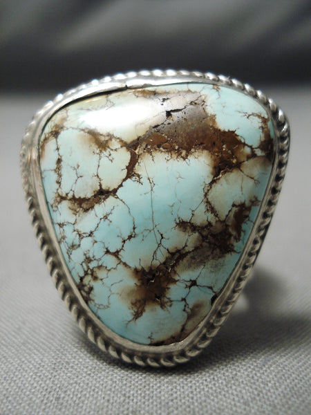 One Of The Best Vintage Native American Navajo Dry Creek Turquoise Sterling Silver Ring
