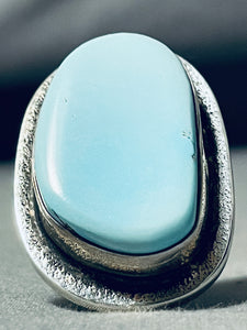 Native American Huge Authentic Tommy Jackson Turquoise Sterling Silver Ring