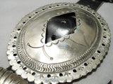 Very Important Early 1900's Vintage Native American Navajo Coin Silver Concho Belt Old