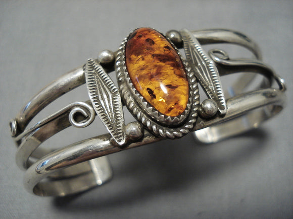 Amazing Vintage Navajo Sterling Silver Native American Bracelet Old