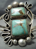 Ray Nez Navajo Royston Turquoise Sterling Silver Bracelet Native American