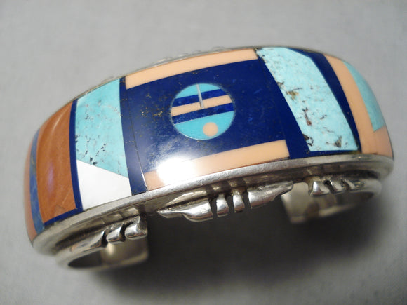 One Of The Best Vintage Native American Navajo Yellowhorse Turquoise Sterling Silver Bracelet