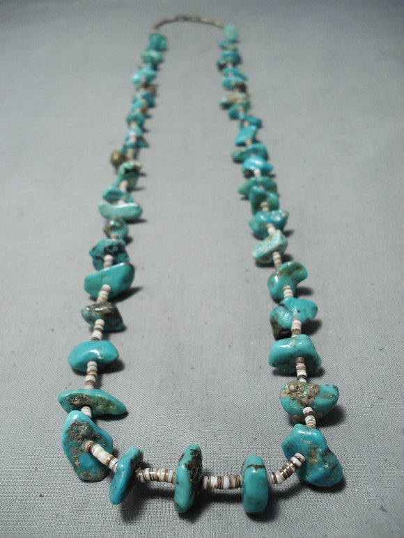 Native American Wonderful Vintage Santo Domingo Royston Turquoise Necklace Old