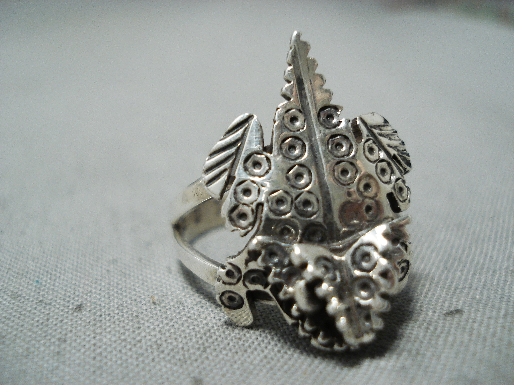 Important Navajo Horned Toad Sterling Silver Native American Ring