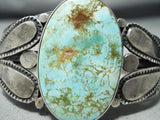 Early Vintage Native American Navajo Royston Turquoise Sterling Silver Bracelet
