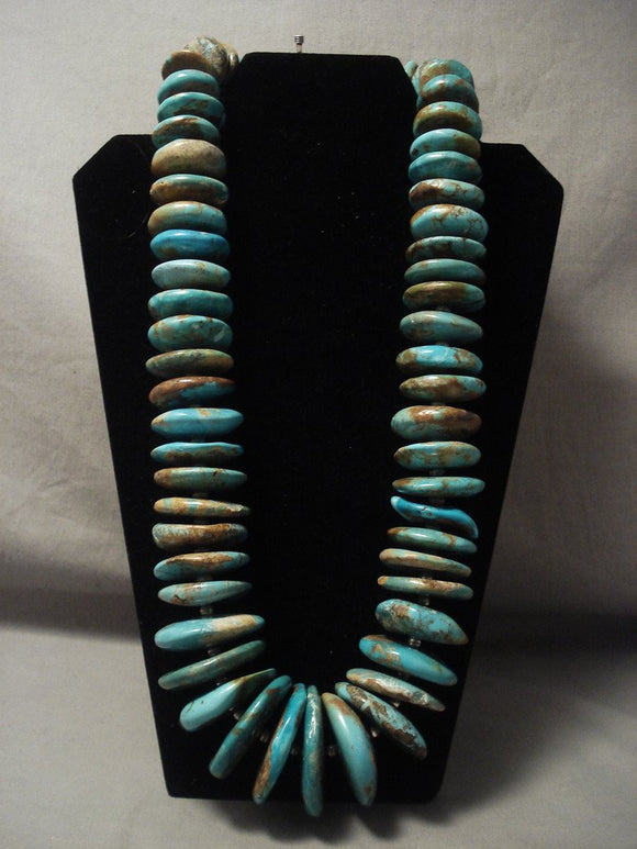 848 Gram Biggest And Best Vintage Navajo Native American Jewelry jewelry Royston Turquoise Necklace-Nativo Arts