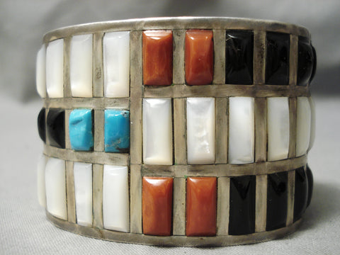 The Best Vintage Native American Navajo Jimmie King Jr Turquoise Coral Sterling Silver Bracelet